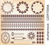 set of vintage floral pattern... | Shutterstock .eps vector #120970006