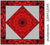 floral geometric pattern.... | Shutterstock .eps vector #1209712195