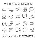 media communication related... | Shutterstock .eps vector #1209720772