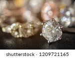 jewelry diamond rings set on... | Shutterstock . vector #1209721165