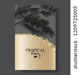 vector tropical banner with... | Shutterstock .eps vector #1209725005