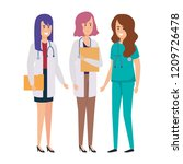 group of doctors medical staff | Shutterstock .eps vector #1209726478