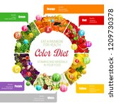 color diet vitamins  minerals... | Shutterstock .eps vector #1209730378