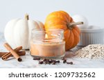 Candle With Pumpkin And Baking...