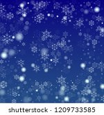 snowflakes christmas background....   Shutterstock .eps vector #1209733585