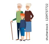 grandparents couple with... | Shutterstock .eps vector #1209737722