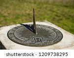 Cast Bronze Sundial With...
