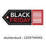 black friday sale. inscription... | Shutterstock .eps vector #1209744442