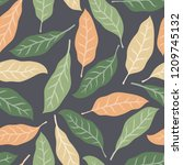 tropical background with palm... | Shutterstock .eps vector #1209745132