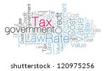 tax concept in word cloud | Shutterstock . vector #120975256