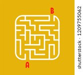 abstract square maze. easy... | Shutterstock .eps vector #1209755062