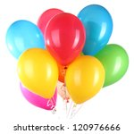 Colorful Balloons Isolated On...