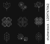set of nature linear... | Shutterstock . vector #1209767062