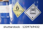 Toxic And Flammable Label On...