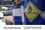 toxic and flammable label on... | Shutterstock . vector #1209769435