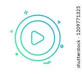 user interface icon design... | Shutterstock .eps vector #1209771325