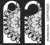 door knob or hanger sign with... | Shutterstock .eps vector #1209792025