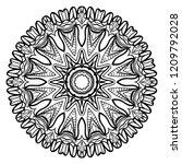 beautiful round flower mandala. ... | Shutterstock .eps vector #1209792028