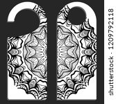 label with special mandala... | Shutterstock .eps vector #1209792118