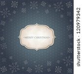 christmas vintage background... | Shutterstock .eps vector #120979342