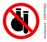 chemical substances stop... | Shutterstock .eps vector #1209797002