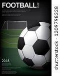 soccer football poster vestor... | Shutterstock .eps vector #1209798328