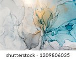 closeup alcohol ink abstract... | Shutterstock . vector #1209806035