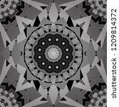 abstract flower graphic vector... | Shutterstock .eps vector #1209814372