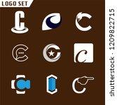 alphabet letters set c logo... | Shutterstock .eps vector #1209822715