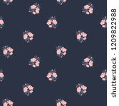 floral seamless pattern. vector ... | Shutterstock .eps vector #1209822988