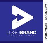 arrow play abstract logo vector ...