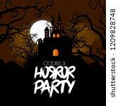 happy halloween creative design ...   Shutterstock .eps vector #1209828748