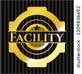 facility golden emblem or badge   Shutterstock .eps vector #1209836692