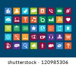 group of 40 icons that can be... | Shutterstock .eps vector #120985306