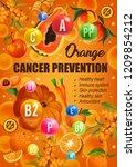 orange color diet for cancer... | Shutterstock .eps vector #1209854212