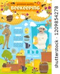 beekeeping. beekeeper man at... | Shutterstock .eps vector #1209854278