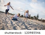 adorable brother and sisters... | Shutterstock . vector #120985546