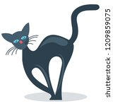 evil cat isolated color... | Shutterstock .eps vector #1209859075