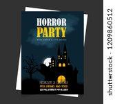 halloween party invitation card ... | Shutterstock .eps vector #1209860512