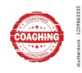 red coaching grunge stamp on... | Shutterstock . vector #1209863335