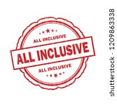 all inclusive grunge stamp on... | Shutterstock . vector #1209863338