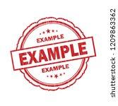 example grunge stamp on white... | Shutterstock . vector #1209863362
