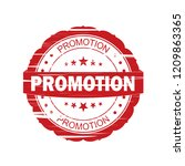 red promotion grunge stamp on... | Shutterstock . vector #1209863365