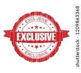 red exclusive grunge stamp on... | Shutterstock . vector #1209863368