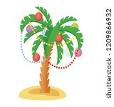 decorated palm tree for... | Shutterstock .eps vector #1209866932