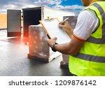 freight transportation... | Shutterstock . vector #1209876142