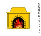 Fireplace Isolated. Heated At...