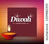 happy diwali creative design...   Shutterstock .eps vector #1209882355