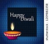 diwali design blue background...   Shutterstock .eps vector #1209882358