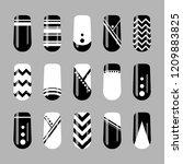 nail art design. vector set of... | Shutterstock .eps vector #1209883825